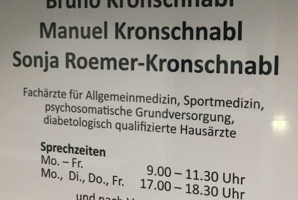 Praxis für Allgemein- und Sportmedizin Dr. med. B. Kronschnabl