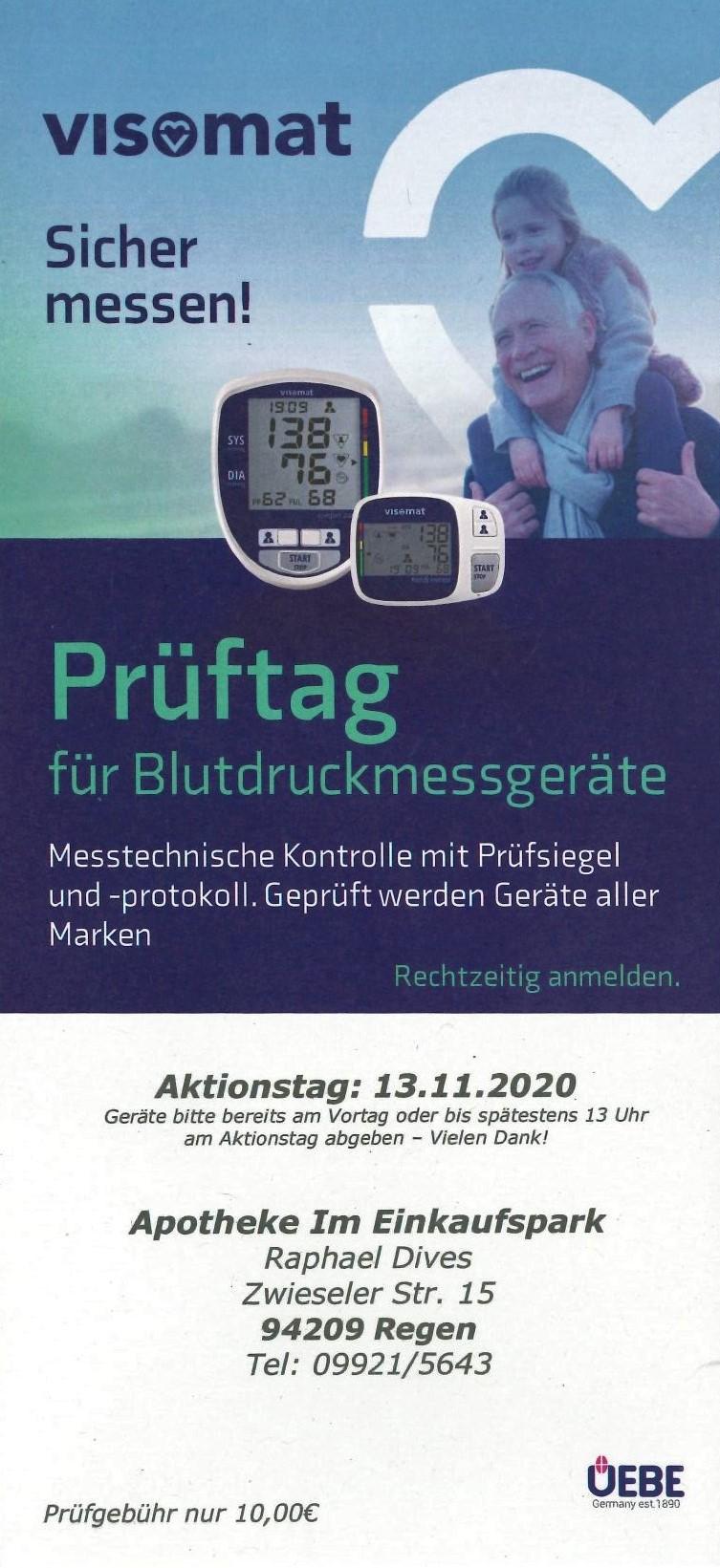 Prüftag für Blutdruckmessgeräte