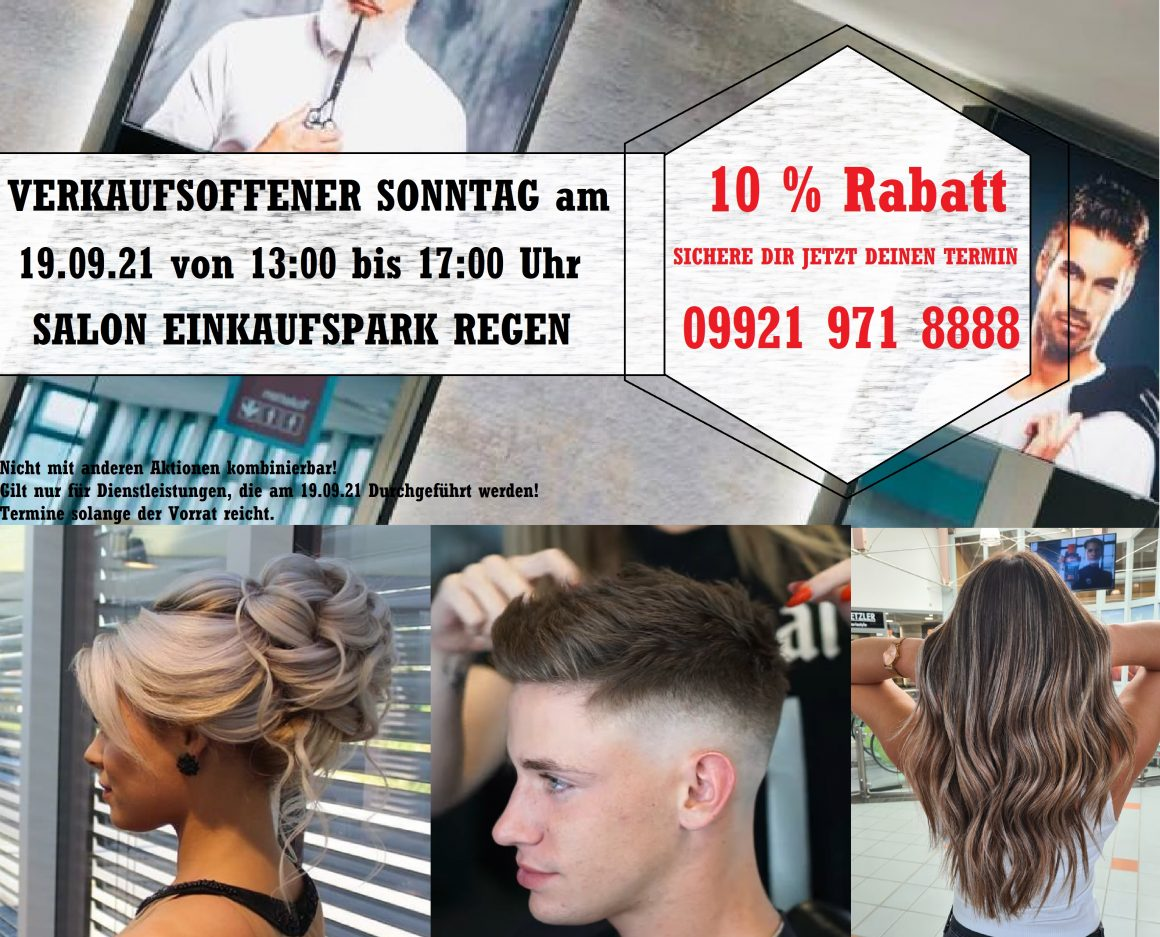 Friseur-Aktion Verkaufsoffener Sonntag 19.09.21